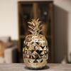 Ceramic Pineapple Canister Coated Finish Gold