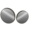 Metal Round Wall Mirror LG Set of Two Coated Finish Black
