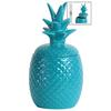 Ceramic 40 oz. Pineapple Canister LG Gloss Finish Blue