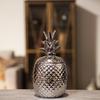 Ceramic 40 oz. Pineapple Canister LG Polished Chrome Finish Silver