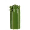 Ceramic Short Star Cactus Figurine Gloss Finish Green