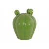 Ceramic Bishop's Cap Cactus Figurine Gloss Finish LG Green