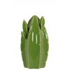Ceramic Tall Star Cactus Figurine SM Gloss Finish Green