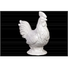 Ceramic Rooster Figurine on Base Gloss Finish White