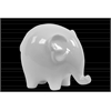Ceramic Standing Elephant Figurine with Short Legs LG Gloss Finish White