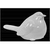 Ceramic Perching Bird Figurine Gloss Finish White