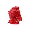 Ceramic Horse Head Gloss Finish Red
