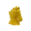 Ceramic Horse Head Gloss Finish Mustard