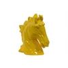 Ceramic Horse Head Gloss Finish Mustard