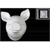 Ceramic Pig Head Wall Decor Gloss Finish White