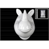 Ceramic Rhinoceros Head Wall Decor Gloss Finish White