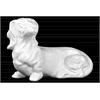Ceramic Laying Basset Hound Dog Figurine Gloss Finish White