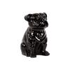 Ceramic Sitting British Bulldog Figurine Gloss Finish Black