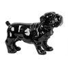 Ceramic Standing Bulldog Figurine Gloss Finish Black