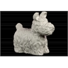Ceramic Standing Scottish Terrier Dog Figurine Matte Finish White