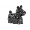 Ceramic Standing Scottish Terrier Dog Figurine Gloss Finish Black
