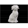 Ceramic Sitting Retriever Dog Figurine Matte Finish White