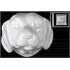 Ceramic Labrador Dog Head Wall Decor Gloss Finish White