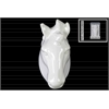 Ceramic Horse Head Wall Decor Gloss Finish White
