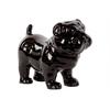 Ceramic Standing British Bulldog Figurine Gloss Finish Black