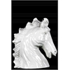 Ceramic Neighing Horse Head Gloss Finish White