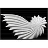 Ceramic Shell White Sculpture Gloss Finish White