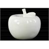 Ceramic Apple Figurine LG Gloss Finish White