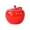 Ceramic Apple Figurine LG Gloss Finish Red