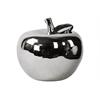 Ceramic Apple Figurine LG Polished Chrome Finish Silver