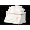 Ceramic Vintage 1901 Typewriter Figurine Gloss Finish White