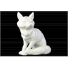 Ceramic Standing Fox Looking Left Figurine Gloss Finish White