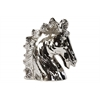 Ceramic Horse Head Polished Chrome Finish Silver
