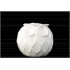 Ceramic Spherical Owl Figurine SM Gloss Finish White