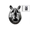 Ceramic Rhinoceros Head Wall Decor Polished Chrome Finish Silver