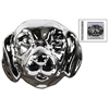 Ceramic Labrador Dog Head Polished Chrome Finish Silver