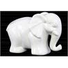 Ceramic Standing Elephant Figurine LG Gloss Finish White