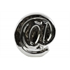 "Ceramic Alphabet Tabletop Decor Symbol ""@"" Polished Chrome Finish Silver"