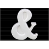 "Ceramic Alphabet Tabletop Decor Symbol ""&"" Gloss Finish White"