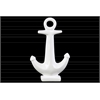 Ceramic Anchor Sculpture on Base Gloss Finish White