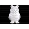 Ceramic Standing Owl Figurine Gloss Finish White