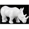 Ceramic Standing Rhinoceros Figurine Gloss Finish White