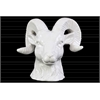 Ceramic Horned Sheep Head Gloss Finish White