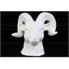 Ceramic Horned Sheep Head Gloss Finish White