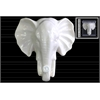 Ceramic Elephant Head Wall Decor Gloss Finish White