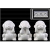 Ceramic Monkey Figurine in PVC Packaging Gloss Finish White