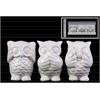 Ceramic Owl Figurine in PVC Packaging Gloss Finish White