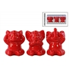 Ceramic Elephant Figurine in PVC Packaging Gloss Finish Red