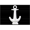 Ceramic Anchor Figurine on Rectangular Base Gloss Finish White