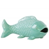 Ceramic Bowfin Fish Figurine LG Gloss Finish Turquoise