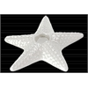 Ceramic Sea Star Candle Holder Gloss Finish White